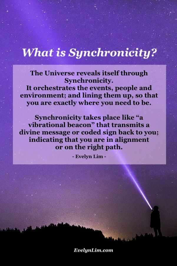 Synchronicity Meaning: Message from the Universe | Synchronicity, What is  synchronicity, Meant to be