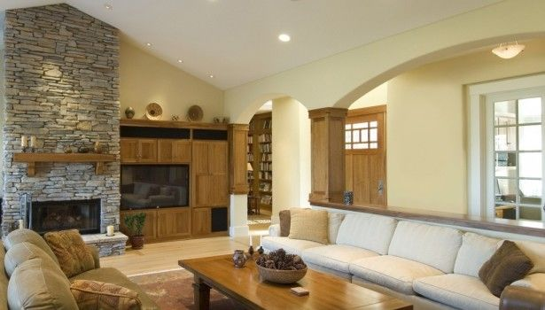 Living Room Natural Grey Stone Fireplace Surround Rectangular Solid Light Oak Wood Coffee Table Contemporary Living Room White Leather Living Room Attractive Easy Living Rooms Decoration That Make Romantic  Ambience