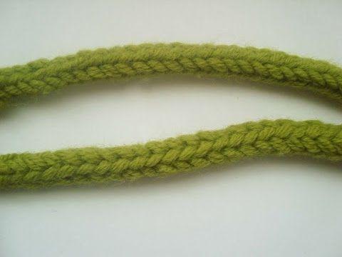 Как связать полый шнур спицами. Видеоурок. | Видео уроки вязания для начинающих