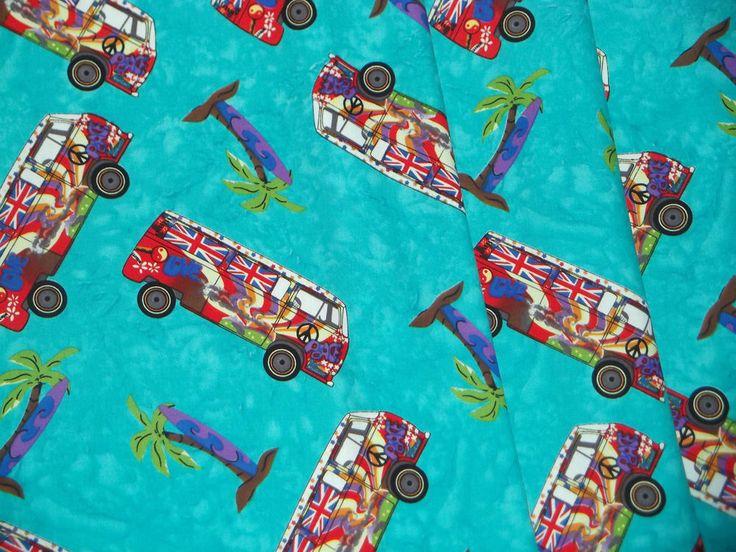 Turquiose Blue Campervan Motorhome Caravan Curtains VW T2 T4 T5 T25 Fully Lined