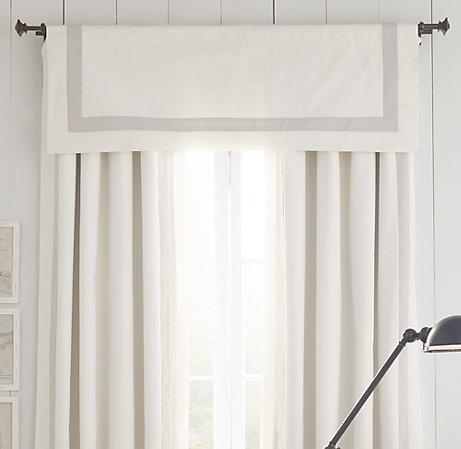 appliqued frame cotton canvas valance