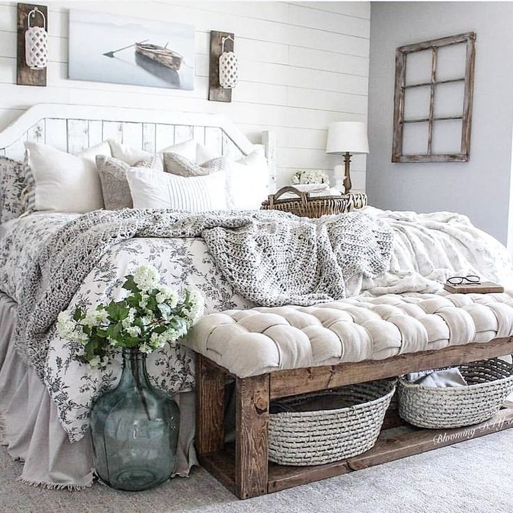 The Most Gorgeous Diy Farmhouse Decor And Furniture Darlin Home Bedroom Master Bedrooms
