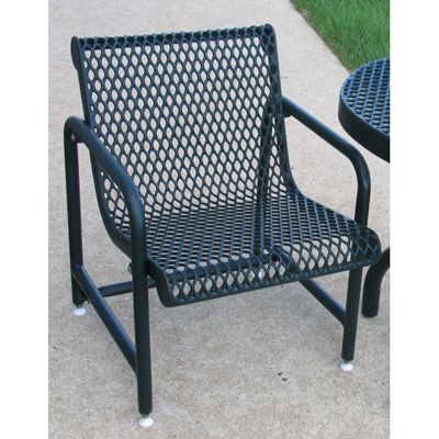 outdoor patio chair expanded metal mesh build to order this outdoor patio chair is 100 plastisol coated frames and legs