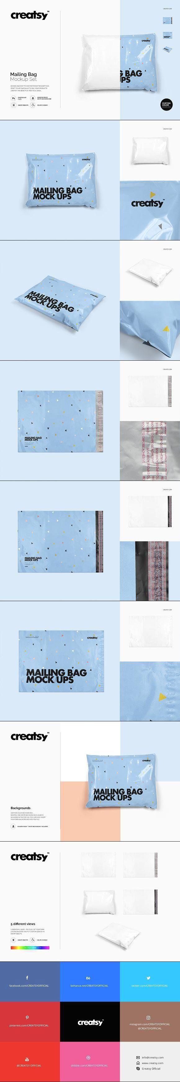 Download Mailing Bag Mockup Set Bag Mockup Mockup Design Mockup