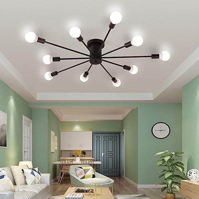 Ladiqi 10 Lights Modern Flush Mount Ceiling Light Industrial