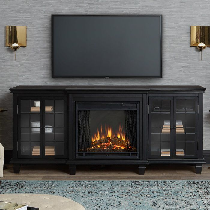 Tv Stand For Tvs Up To 78 With Electric Fireplace Included Electric Fireplace Entertainment Center Fireplace Entertainment Center Fireplace Entertainment