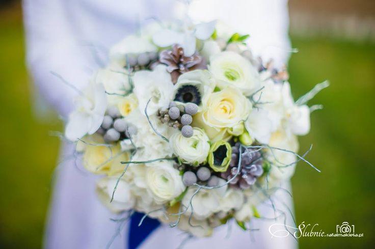 zimowy bukiet ślubny  kwiaciarnia Zielona Oliwka - nasze prace