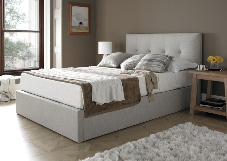 MW Kaydian Design Dreydern 4FT 6 Double Ottoman Bed - Oatmeal