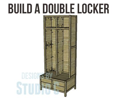 Build a Double Locker - perfect for backpack and coat storage!
