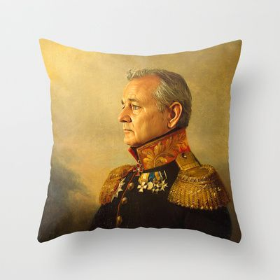 Bill Murray - replaceface Throw Pillow by Replaceface - $20.00