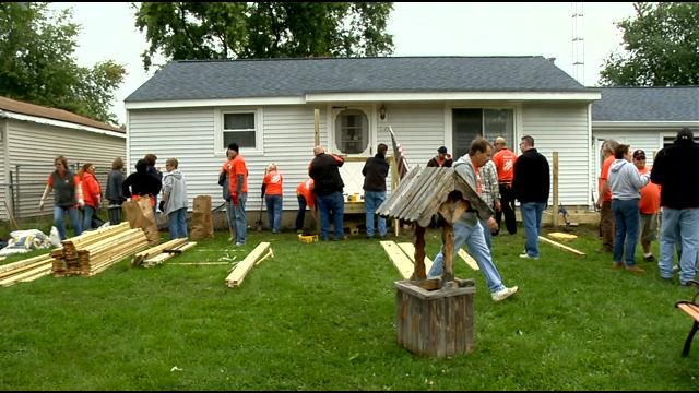 This time, volunteers from the home improvement store are teaming up with a local VFW post to transform the home of a vietnam veteran in Davison - and the timing of the project is no coincidence.