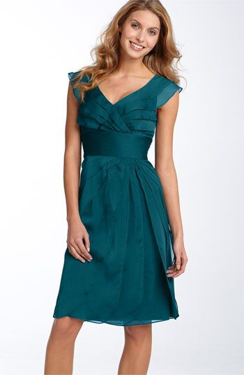 Adrianna Papell Tiered Chiffon Dress available at #Nordstrom