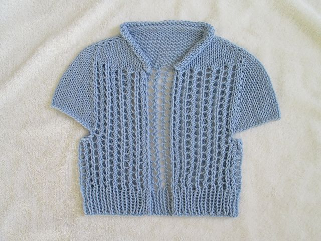 Ravelry: maritere's Girl's open-front lace cardi--5/25
