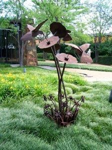Lovely Recycled Metal Rose Sculpture: For The Garden « HAUTE NATURE