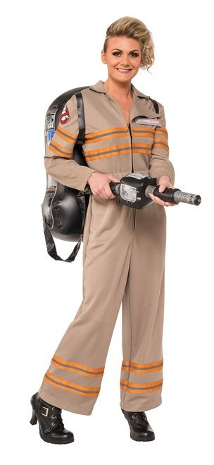 Answer the call in this Ladies Ghostbusters 3 Jumpsuit! Reflective jumpsuit comes with four character name tags and an inflatable proton pack with blaster. Grab three other friends and fight the paranormal with this amazing Ghostbusters Jumpsuit Costumes! #yyc #Calgary #costume #WhoYouGonnaCall #GhostBusters #ghost #bustinmakesmefeelgood
