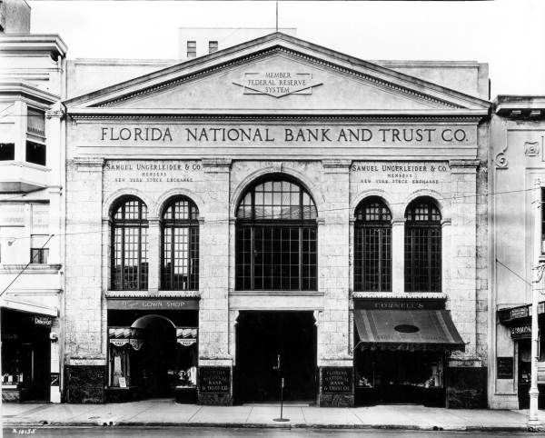 The Florida National Bank And Trust Company In Miami Florida 1934 Florida Memory Florida Florida City Florida Usa