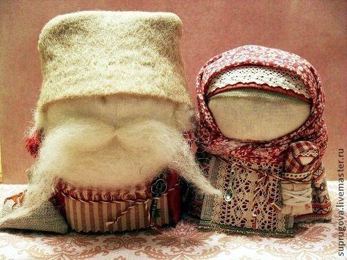 """Купить """"Крупеничка и Богач"""" - бежевый, ручная работа, русская традиция, русский сувенир, русский стиль"""