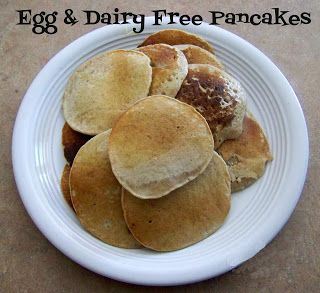 Delicious Pancakes Without Eggs or Milk - Photo Tutorial     Now you can enjoy pancakes even if you are allergic to dairy products!