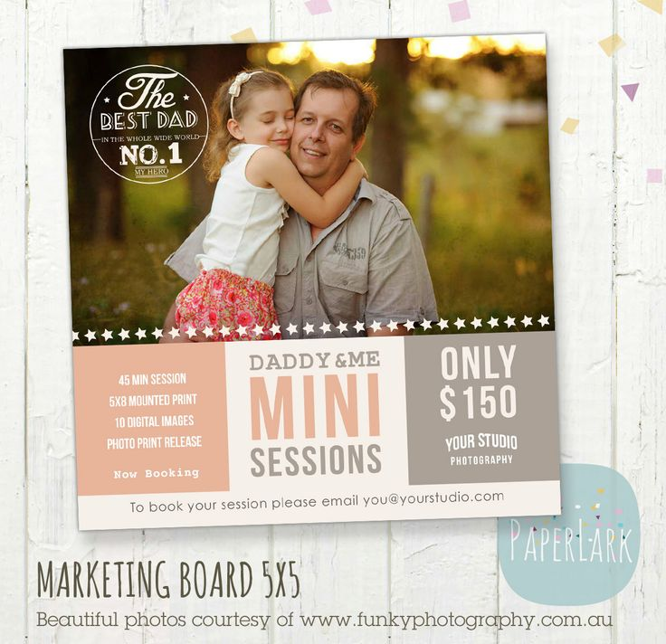 Father's Day Mini Session Template Photoshop By