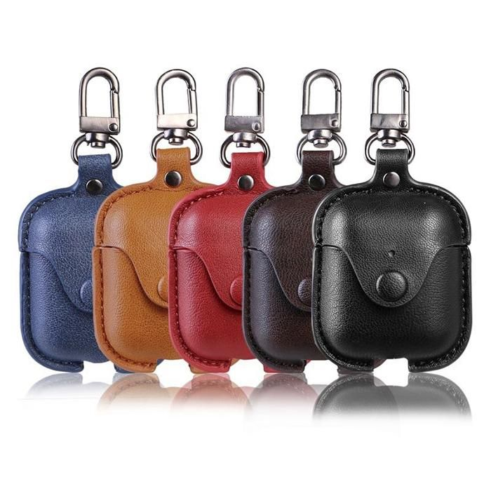 Airpods Leather Case Airpods Anti Lost Strap Cover Keychain Kit Access Heddey Leather Luxury Leather Bag Accessories Case