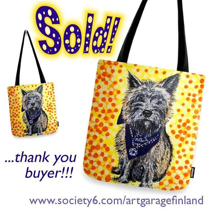 Sold!!  ...thanks to the recent buyer of this 'Cairn terrier' tote-bag design from my #Society6 webstore! #society6totebag #totebag #dogsofinstagram #cairnterrier #instadog #terrier #portrait #dogportrait #scottishbreed #art #design #artoftheday #fashion #dogstyle #artistsofinstagram #doglover #hund #madra #koira #handpainted #dogs #puppy #dogoftheday #terrierart #dogdesign #dog #artofinstagram #dogpainting #cairnsofinstagram