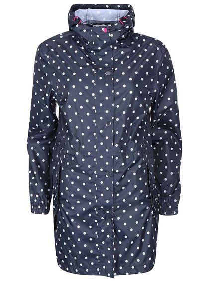 1700**Tmavě modrá dámská nepromokavá parka s puntíky Tom Joule Golightly
