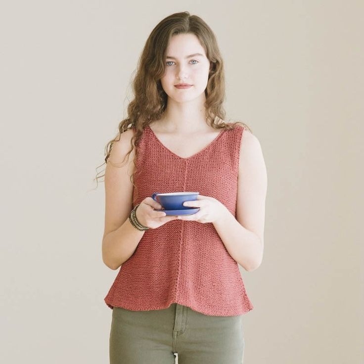 tamsin tank knitting pattern - Quince and Co