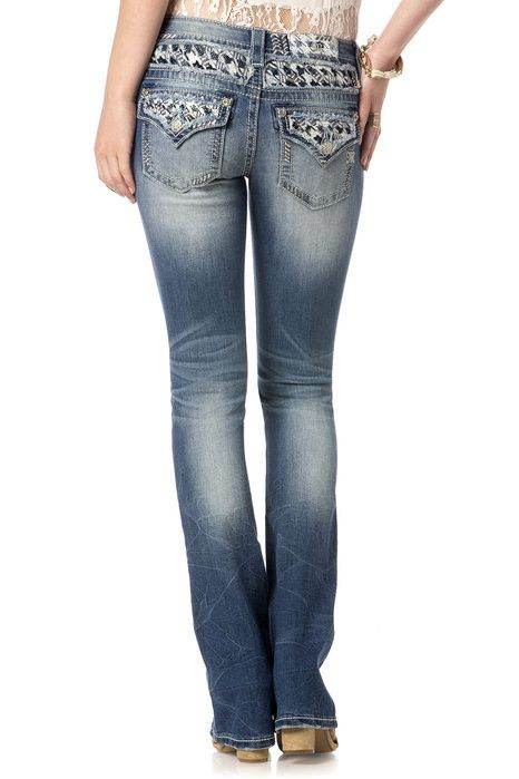 Miss Me Houndstooth Slim Boot Cut Jeans