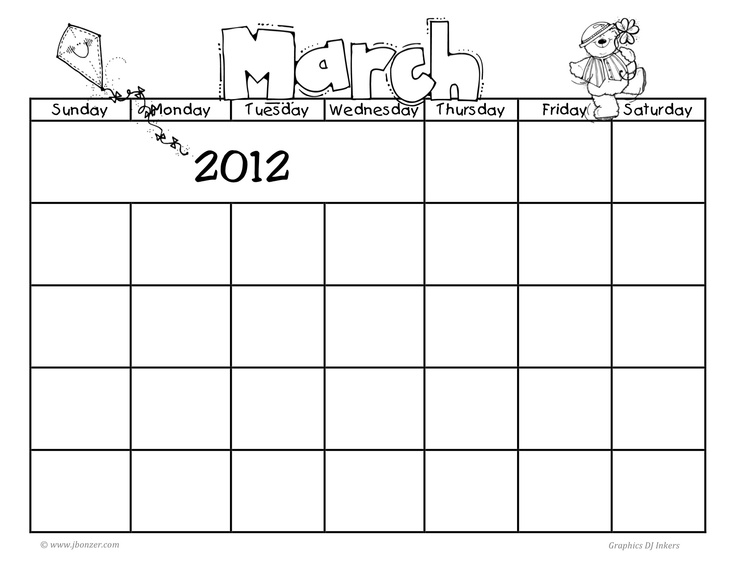 30 best Monthly - calendars, charts images on Pinterest - blank sticker chart