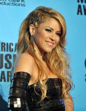 Shakira double side French braid.