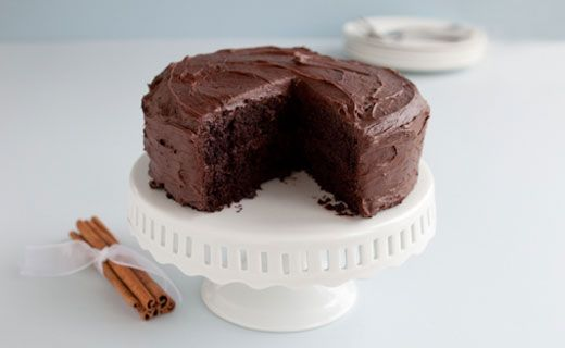Chocolate Buttermilk Cake. Great for entertaining or for a girls' night in.