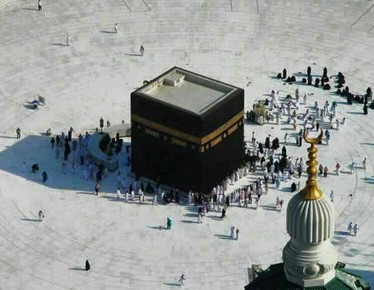 A rare sight .. a very few pilgrims doing the thawaf # kabah # Mecca