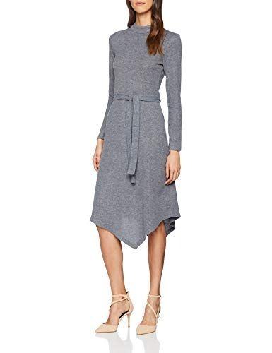 ESPRIT Collection Damen Kleid 118EO1E031 Grau (Medium Grey 035) X-Large 21bdf6f287