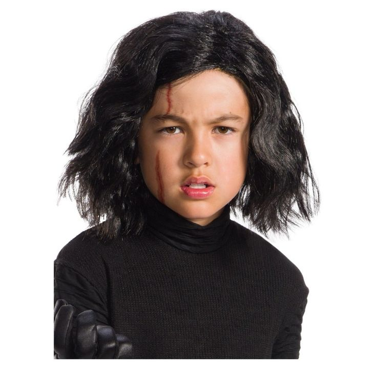 Star Wars Episode Viii: The Last Jedi Victor 1 Kids' Wig with Scar Tattoo, Kids Unisex, Multi-Colored