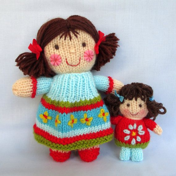 Knitting Jenny Toys : Jenny jolly dollies and bags doll knitting patterns