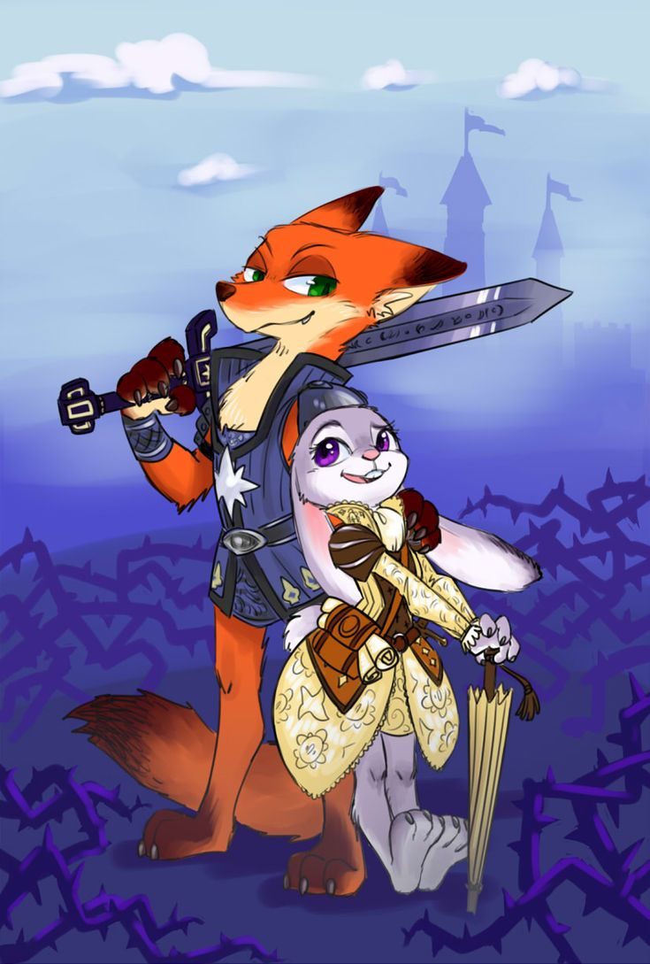 Well, this is cool. A crossover pic of Zootopia and Armello (Nick is the Wolf hero Thane, and Judy is the Rabbit hero Amber). Both cute and cool :)