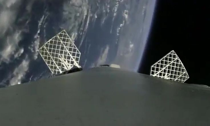 Onboard Camera Shows SpaceX Falcon 9 Successfully Landing from Space – Video | Science | The Guardian