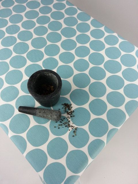 Blue Tablecloth Modern tablecloth Custom size by YulkisHomeDecor