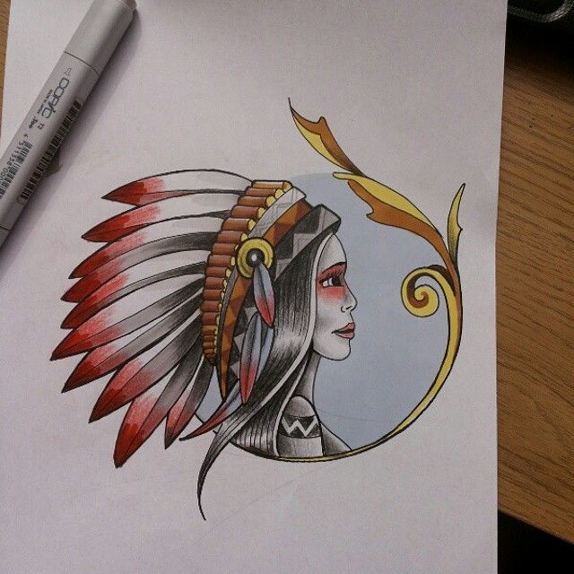 #Tattoodesign #sketch #indian #västerås #eskilstuna