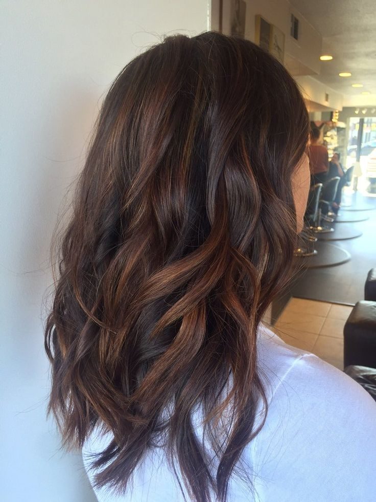 Effortless Long Hairstyles Warm Dimensional Brunette Looking So Healthy Shiny