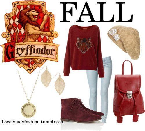 Gryffindor fall fashion