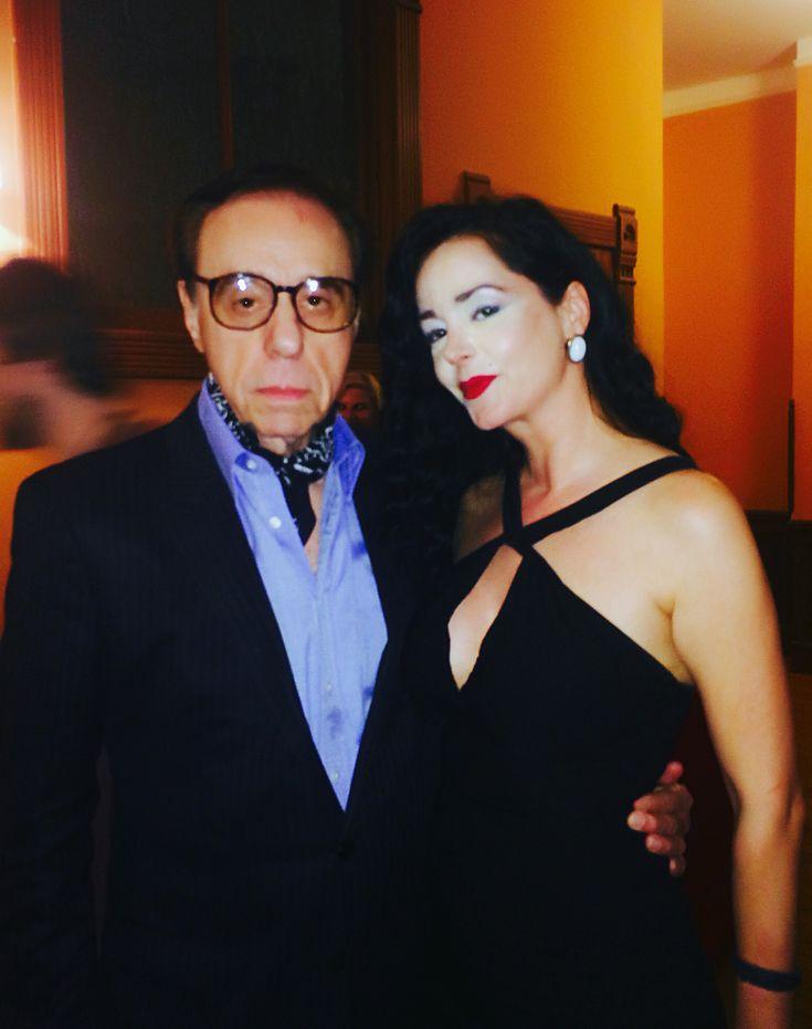 So happy to meet my first director!!Peter Bogdanovich!!Legend!! Despina Mirou & Peter Bogdanovich