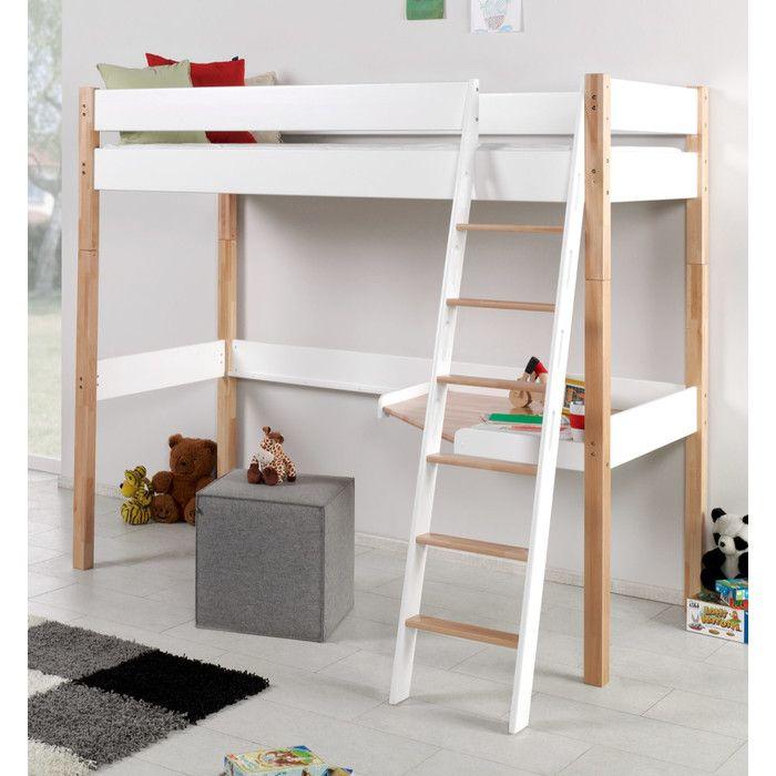 Relita Hochbett Renate mit Schreibtisch und Leiter, 90 x 200 cm | Wayfair.de