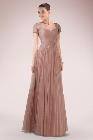 Romantic Tulle A-line Evening Dress Featuring Asymmetrical Ruches and Lace Panel