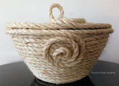 Coiled Sisal Rope Basket with Lid DIY�7:37 AM�Gail @Purple Hues and Me�14 commentsCoiled Sisal Rope Basket with Lid DIY