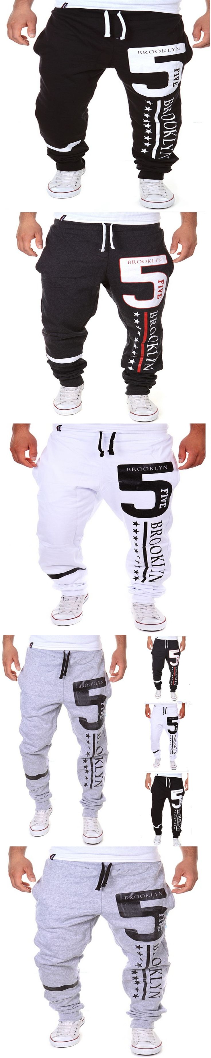 2016 Beswlz New Men's Brand Slim Ankle-Length Pants The Letter Straight Casual Pants Cotton Male Pants Pantalones Hombre