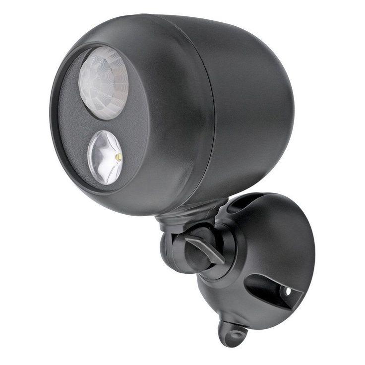 Motion Sensor Light Battery Power Wireless Spotlight LED Light Outdoor 3 Pack…