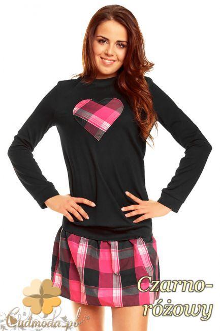 Kobieca sukienka z sercem w kolorze dołu marki NOMMO.  #cudmoda #moda #styl #ubrania #odzież #sukienki