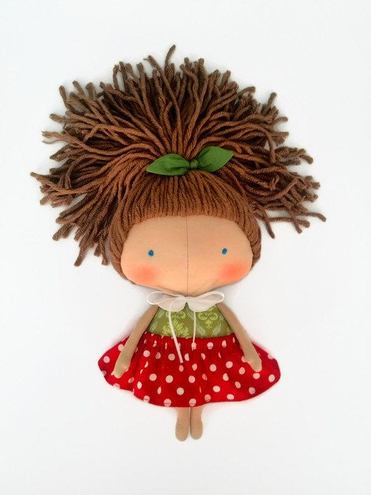 Daughter gift-Tilda doll cherry-Rag by HandmadeToyStore on Etsy