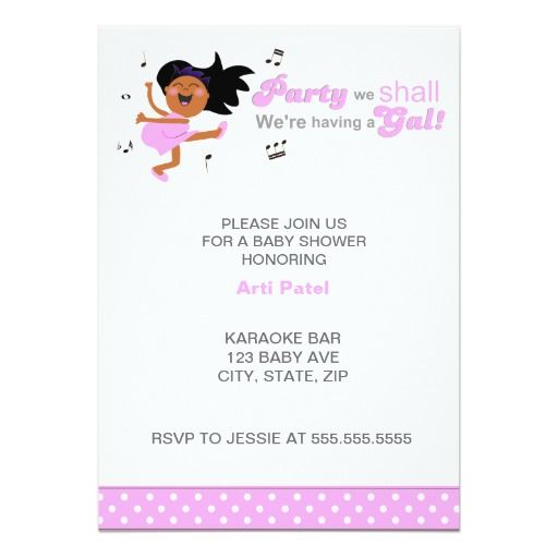 420 best Dance Baby Shower Invitations images – Dancing Baby Birthday Card